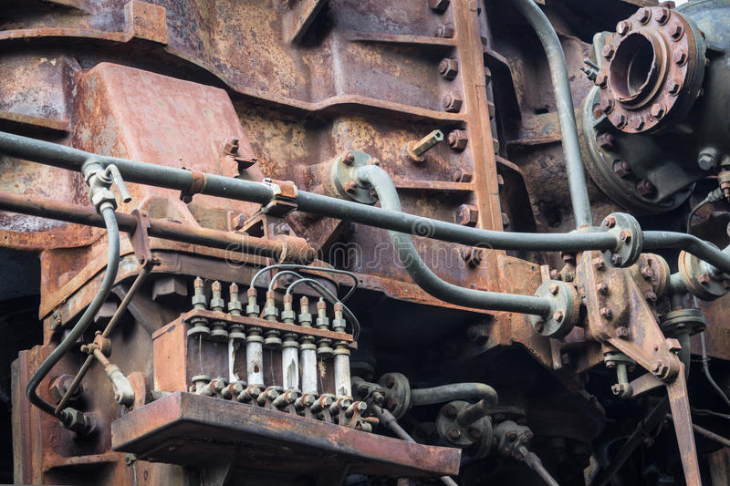 Old Rusty Rusted Machine. Rusted Metal Machinery Detail. Aged ...