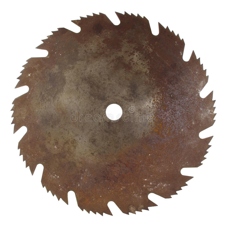Old rusty saw blade royalty free stock image