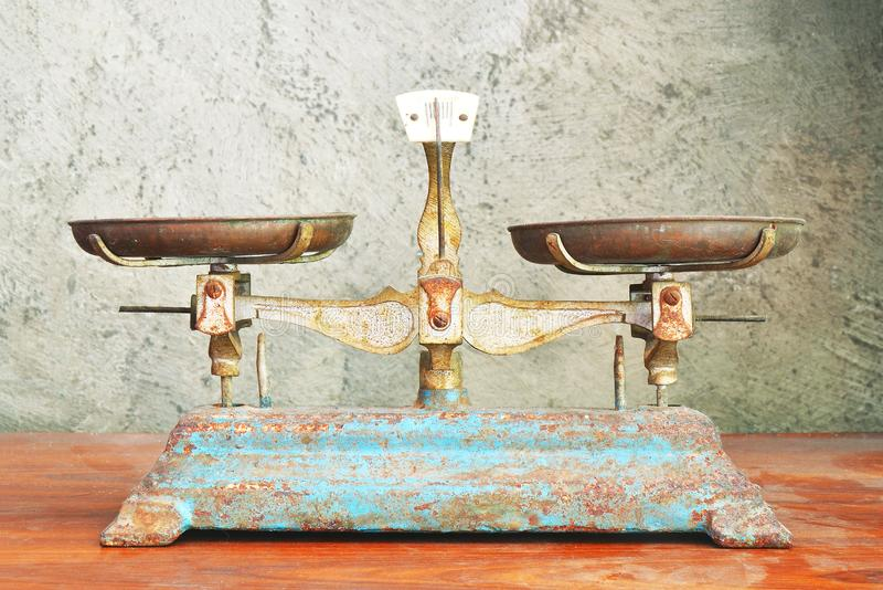 old rusty scales, vintage color photo stock photos
