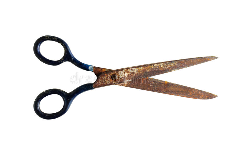 Rusty scissors stock image
