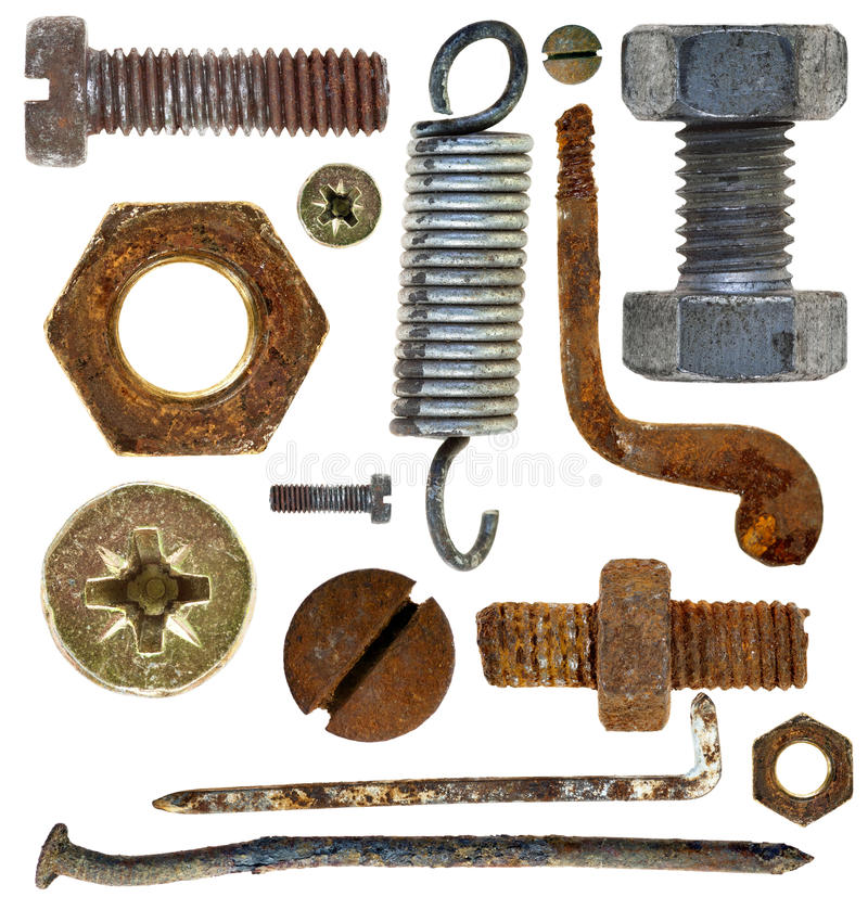 Old Rusty Head Nail Hook Spring Royalty Free Stock Photography