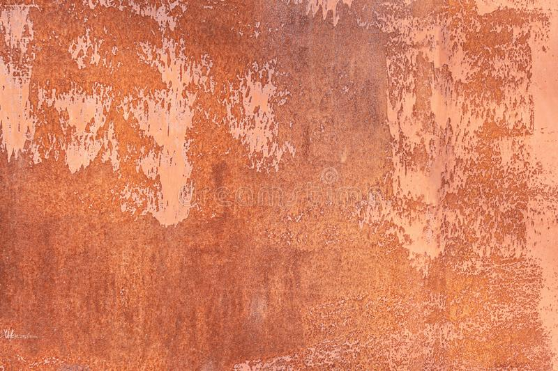 Old rusty sheet metal. Texture closeup. Unusual abstract background for the layout. stock photo