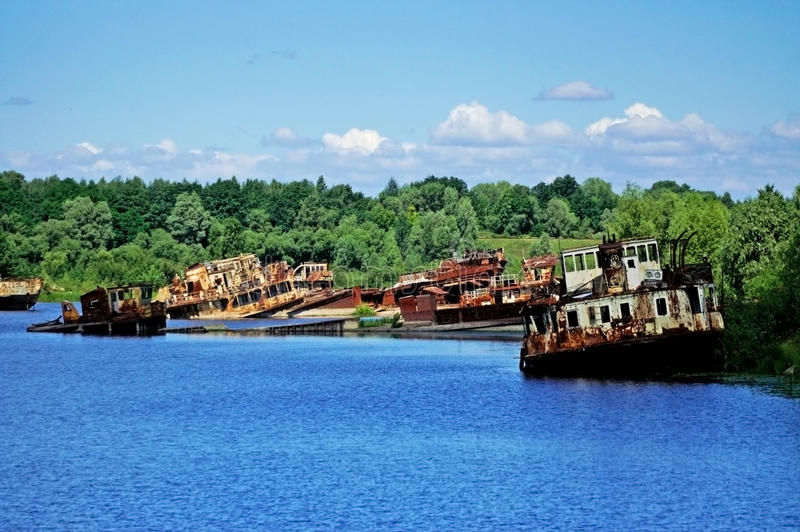 Old rusty ships royalty free stock photography