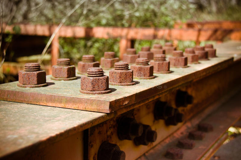 Old rusty steel structure stock image