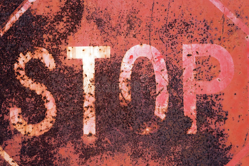 Download Old rusty stop sign stock image. Image of object, space - 5538499