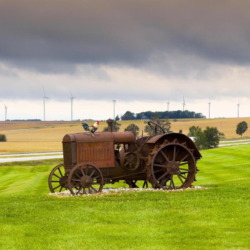 Download Old rusty tractor stock image. Image of industry, country - 25811327