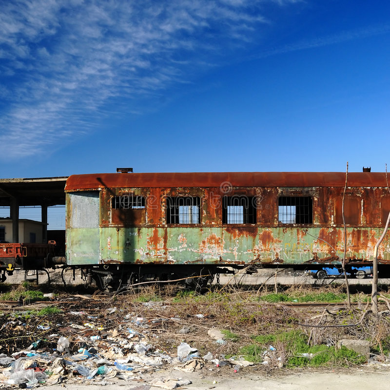Download Old rusty train cars stock photo. Image of pull, power - 4604278