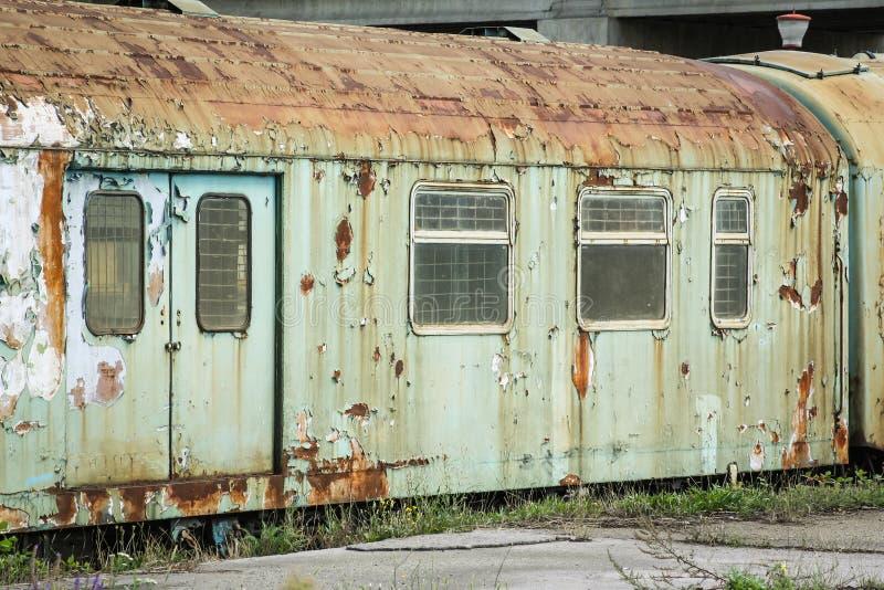 Old rusty train wagon royalty free stock photo