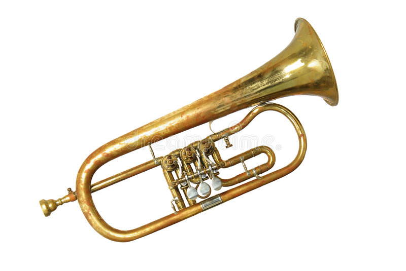 Download An old rusty trumpet stock image. Image of jazz, golden - 7656977