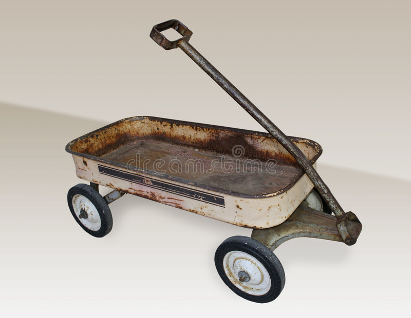 Old Rusty Wagon. An old, vintage, rusty wagon (Path included royalty free stock images