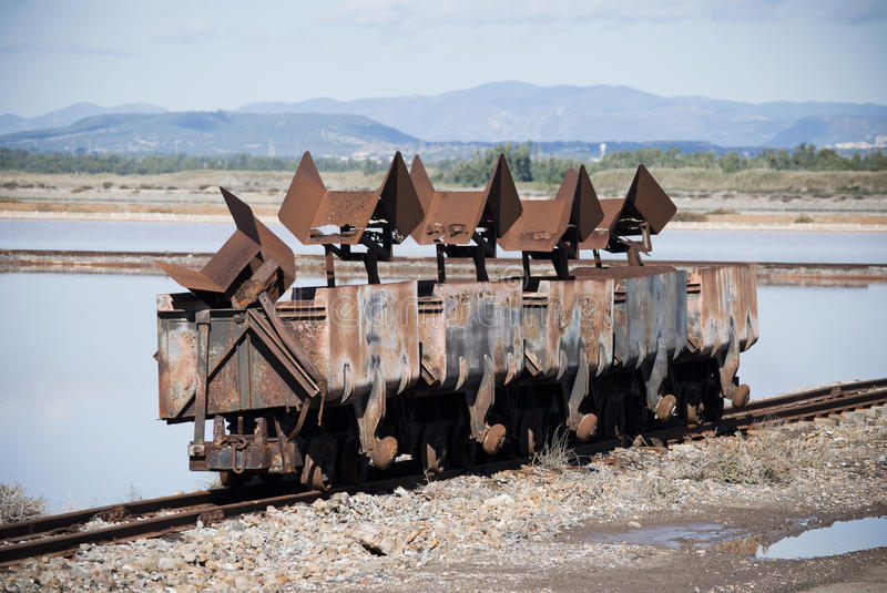 Old rusty wagons royalty free stock photos