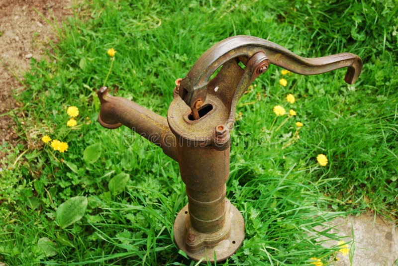 Download Old rusty water pump stock photo. Image of ruin, green - 9164936