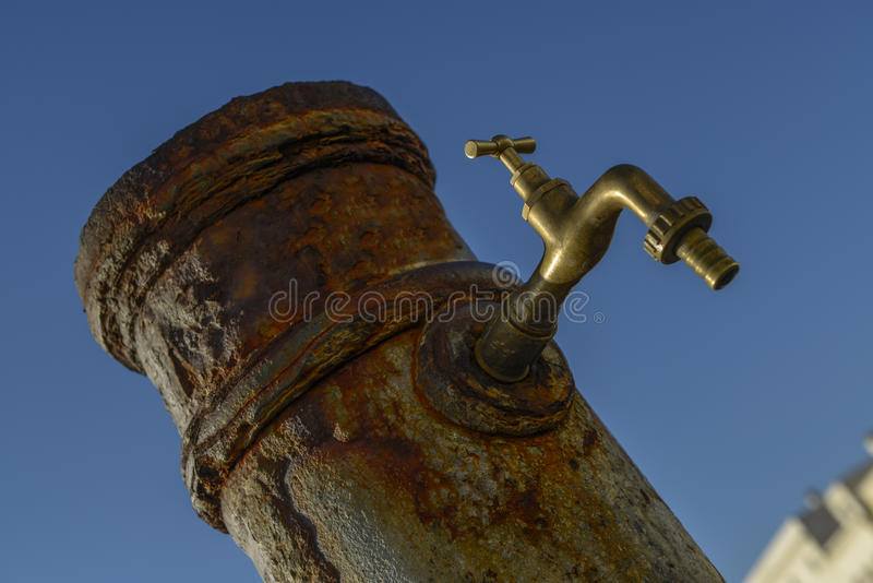 Old rusty water tap stock photos