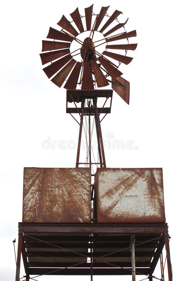 An old rusty windmill royalty free stock photography