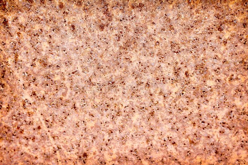 Old rusty zinc background with hole patterns texture from corroded royalty free stock photography
