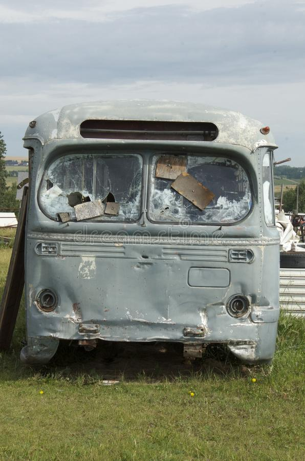 Old RV camping bus royalty free stock photography