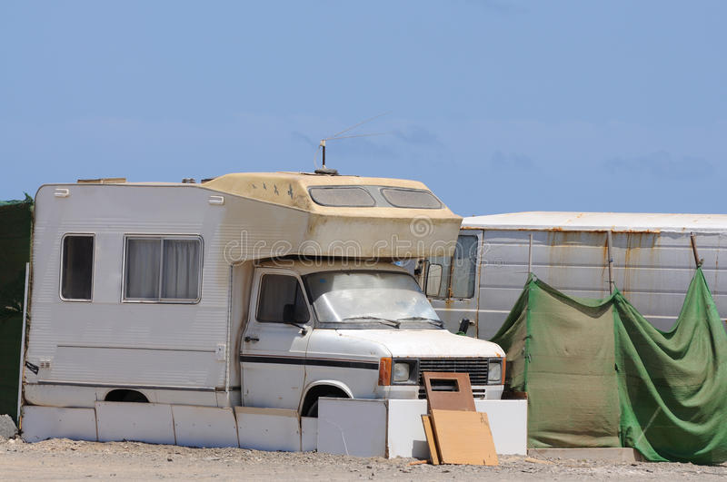 Download Old RV in a trailer park stock photo. Image of camping - 10368624