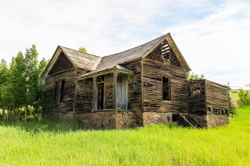Old 1800`s House in Cripple Creek Colorado. One of the first homes in Cripple Creek back in the boom era of gold mining royalty free stock photography
