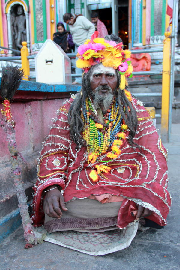 Old sadhu. stock images