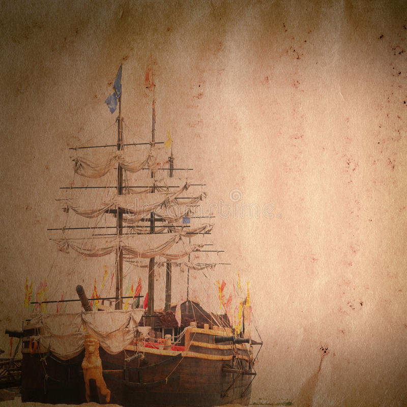 Download Old Sail Ship Grunge Paper Texture Stock Photo - Image: 25797508