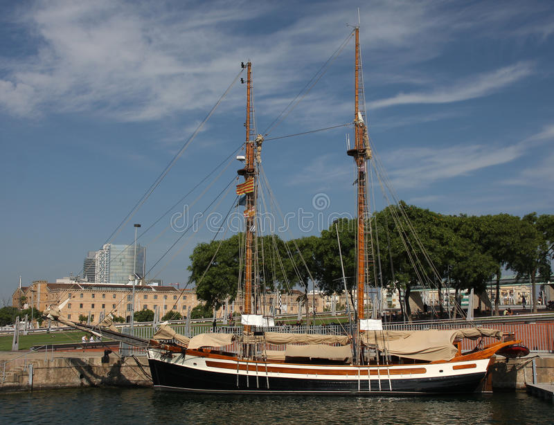 Download Old sailboat stock image. Image of vessel, cruise, seas - 17188043