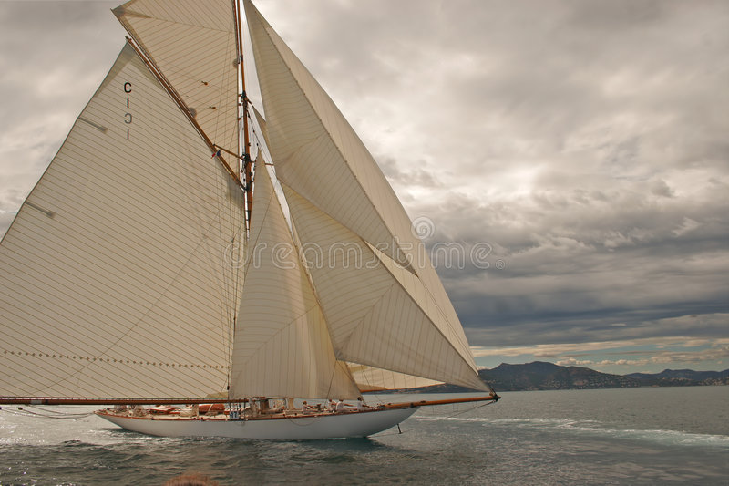 Old sailing boat stock photos