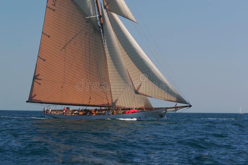 Old sailing boat stock photo