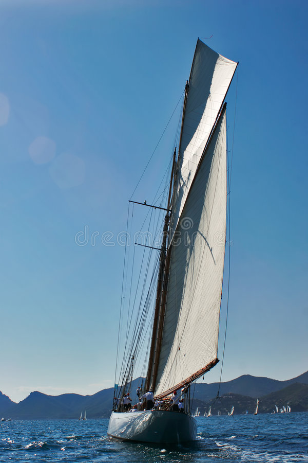 Old sailing boat stock photography