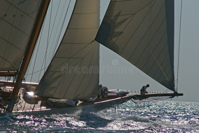 Old sailing boat stock image