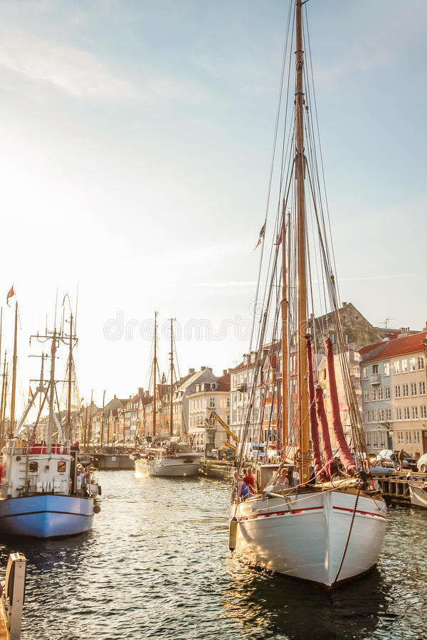 Download Old Sailing Boat In Evening Light In Copenhagen Editorial Stock Image - Image: 34043814