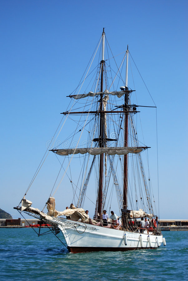 Old Sailing Boat In Imperia Editorial Stock Image