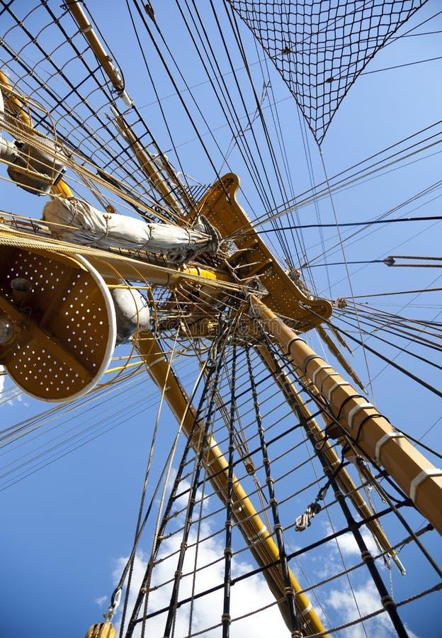 Free Old Sailing Boat Rigging / Mast Royalty Free Stock Photo - 15454095