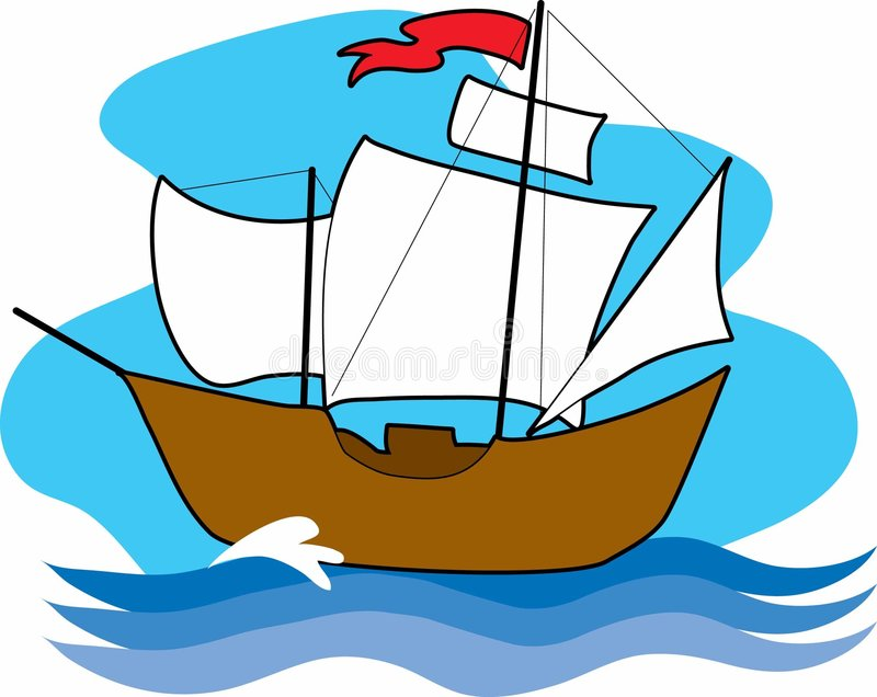 Download Old Sailing Ship stock vector. Illustration of wooden - 2081762