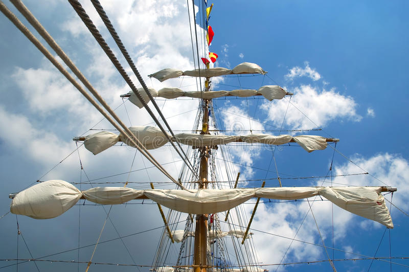 Download Old sailing ship stock image. Image of cruise, boat, sails - 25048161