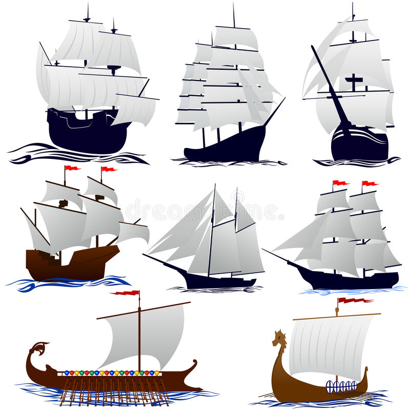 Download Old sailing ships stock vector. Image of sailing, wooden - 26846625
