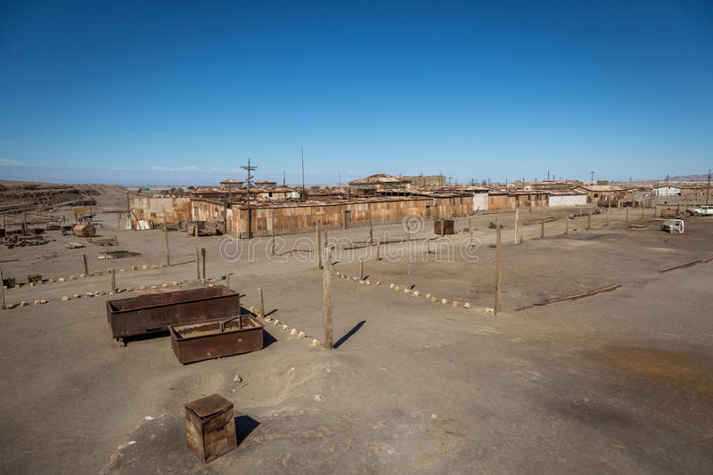 The old salitre factory of Humberstone, northern Chile royalty free stock photo