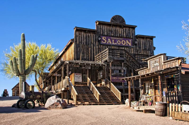 Old Saloon. The old saloon at the Goldfield ghost town in Arizona