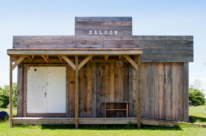 Old saloon. Old fashioned wooden saloon building royalty free stock photography