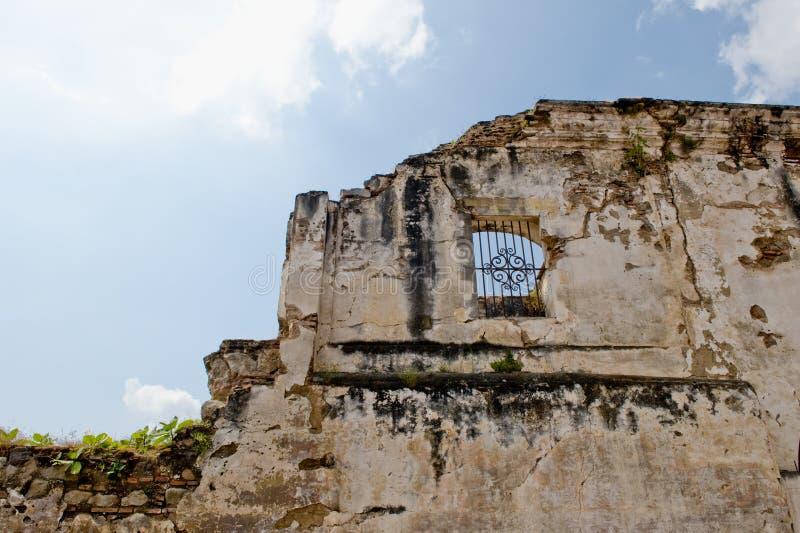 Old San Jose cathedral ruins. Antigua Guatemala city, Guatemala stock photos