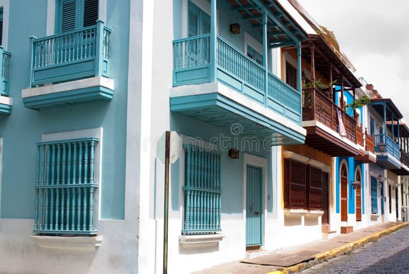 Old San Juan. A row of homes in Old San Juan, Puerto Rico royalty free stock image