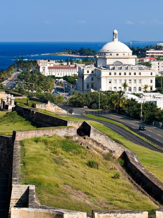 Old San Juan. Puerto Rico With Capital stock image