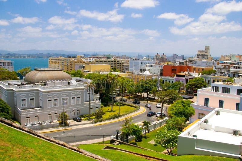 Old san juan. View of old san juan, in puerto rico stock photography
