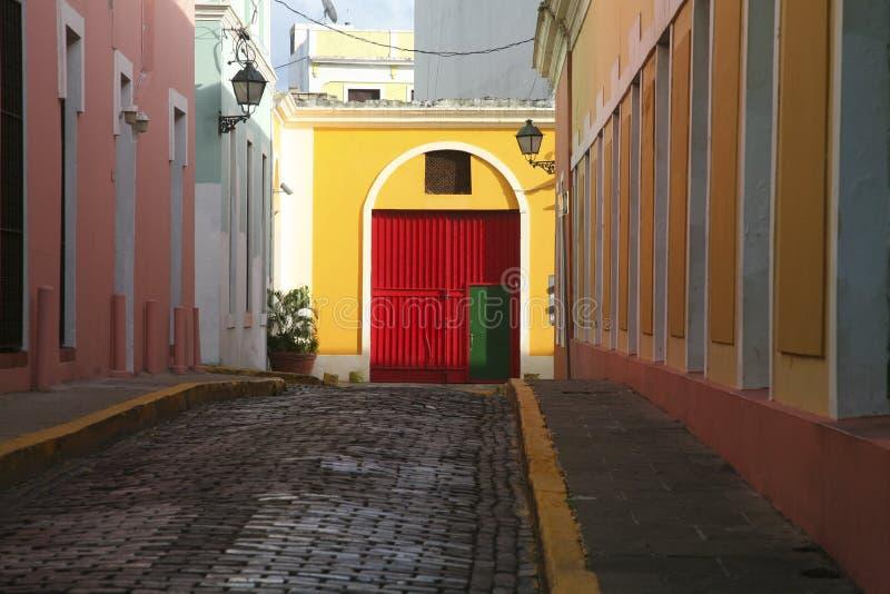Old San Juan. A street in old san juan puerto rico stock photo