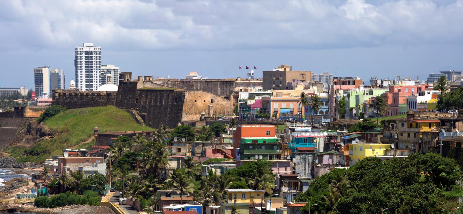 Old San Juan Coast stock image