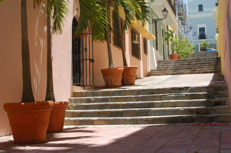 Old San Juan, Puerto Rico. Residences in Old San Juan stock photography