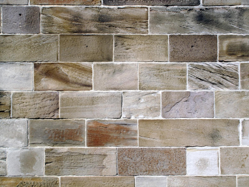 Old Sandstone Block Wall. stock image