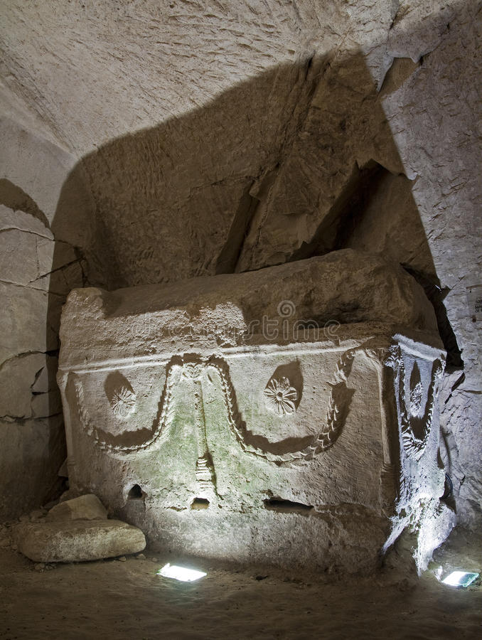 Old Sarcophagus stock photography