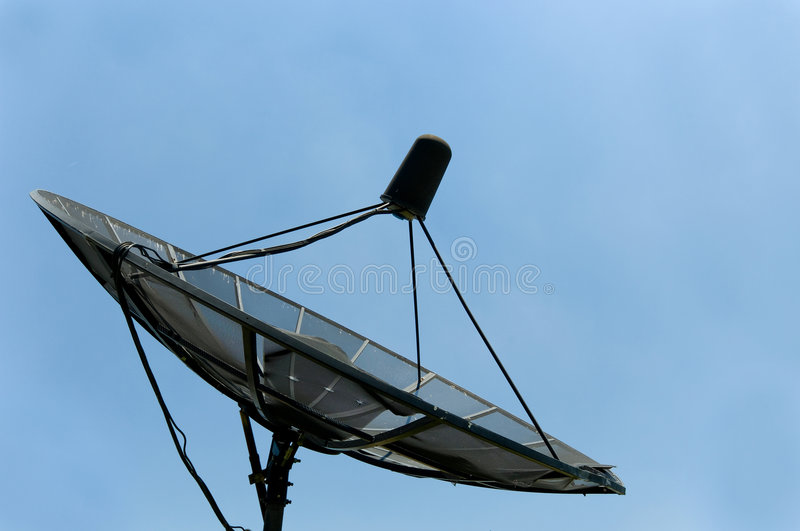 Download Old Satellite Dish stock image. Image of obsolete, blue - 3060227