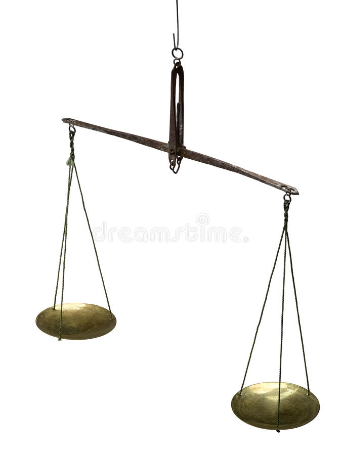 Old scale. stock photography
