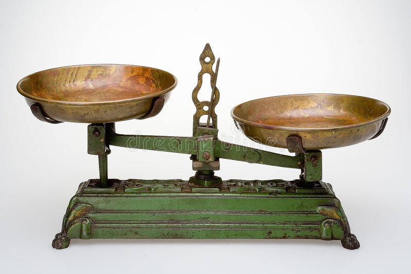 Old scale. Without weights royalty free stock images
